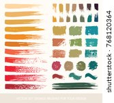 painted grunge stripes set.... | Shutterstock .eps vector #768120364