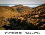 along a hiking trail on the... | Shutterstock . vector #768122983