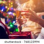 group of friends enjoying... | Shutterstock . vector #768123994