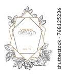 modern template. tropic design. ... | Shutterstock .eps vector #768125236