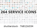 service support icon colored... | Shutterstock .eps vector #768126334