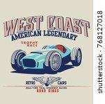 vector race car illustration     Shutterstock .eps vector #768127018