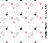 memphis style seamless pattern...   Shutterstock .eps vector #768129520