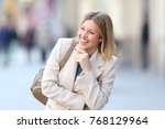 portrait of a candid woman... | Shutterstock . vector #768129964