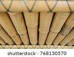 bamboo wall or bamboo texture... | Shutterstock . vector #768130570