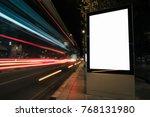 blank white advertisement... | Shutterstock . vector #768131980