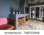 exterior of an entertainment...   Shutterstock . vector #768132646