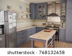 country style kitchen in a... | Shutterstock . vector #768132658