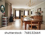 interior of a contemporary... | Shutterstock . vector #768132664