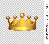 realistic 3d gold crown... | Shutterstock .eps vector #768132730