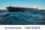 cargo ships  they were in the... | Shutterstock . vector #768132829