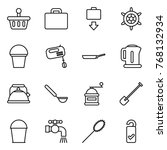 thin line icon set   basket ... | Shutterstock .eps vector #768132934