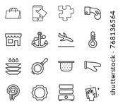 thin line icon set   shopping... | Shutterstock .eps vector #768136564