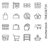 thin line icon set   shop ... | Shutterstock .eps vector #768136714
