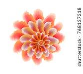 exotic flower. vector... | Shutterstock .eps vector #768137218