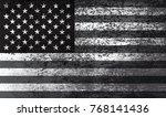 grunge usa flag.vintage... | Shutterstock .eps vector #768141436
