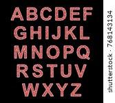 crystal texture font. vector... | Shutterstock .eps vector #768143134
