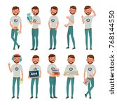 geek character. man. classic... | Shutterstock . vector #768144550