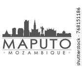 maputo mozambique skyline...   Shutterstock .eps vector #768151186