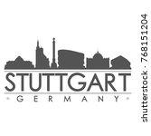 stuttgart germany skyline... | Shutterstock .eps vector #768151204