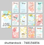 hand drawing vector calendar... | Shutterstock .eps vector #768156856