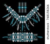 part of tribal geometric... | Shutterstock .eps vector #768158266