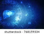 realistic human liver 2d... | Shutterstock . vector #768159334