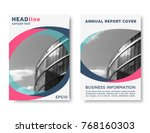 color annual report cover ... | Shutterstock .eps vector #768160303
