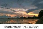the evening sunset thailand... | Shutterstock . vector #768163954