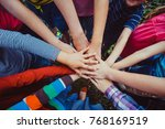 we are strong when we together | Shutterstock . vector #768169519