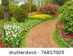 Garden Of Tulips At Skagit ...