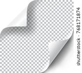 curly page corners set | Shutterstock .eps vector #768171874
