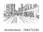sketch illustration of san...   Shutterstock .eps vector #768172150