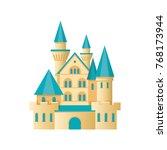 castle fortress  citadel... | Shutterstock .eps vector #768173944