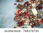 artisan handmade chocolate... | Shutterstock . vector #768176734