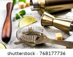 ingredients for making drinks... | Shutterstock . vector #768177736