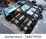 steel welding for making... | Shutterstock . vector #768179920