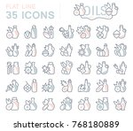 set of vector line icons  sign... | Shutterstock .eps vector #768180889
