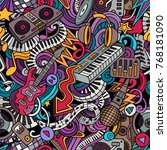 cartoon cute doodles disco... | Shutterstock .eps vector #768181090