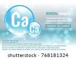 mineral ca  calcium complex... | Shutterstock .eps vector #768181324