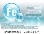 mineral fe  ferrum complex with ... | Shutterstock .eps vector #768181474