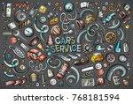 vector hand drawn doodle...   Shutterstock .eps vector #768181594