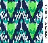 ikat seamless pattern  as cloth ...   Shutterstock . vector #768181918