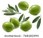 Green Olives Leaves Set...