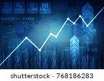 2d rendering stock market... | Shutterstock . vector #768186283