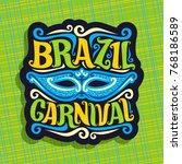 vector logo for brazil carnival ... | Shutterstock .eps vector #768186589