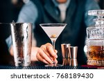 close up of dry martini with... | Shutterstock . vector #768189430