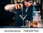 dry martini close up.... | Shutterstock . vector #768189763
