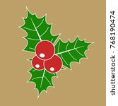 christmas holly berry with red...   Shutterstock .eps vector #768190474