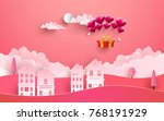 illustrations of love and... | Shutterstock .eps vector #768191929